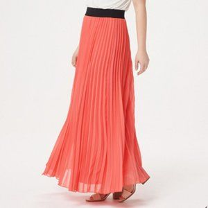NEW Laurie Felt Pleated Pull-On Coral Skirt Small